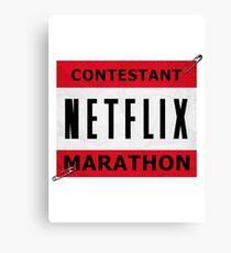 Netflix Marathon Canvas Print