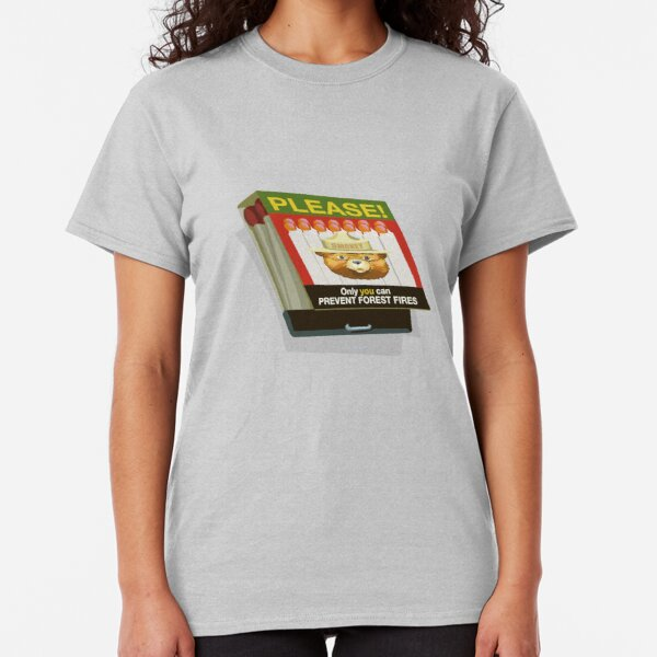 Smokey the Bear on Fire Prevention Classic T-Shirt
