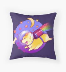 See You Space Corgi Throw Pillow