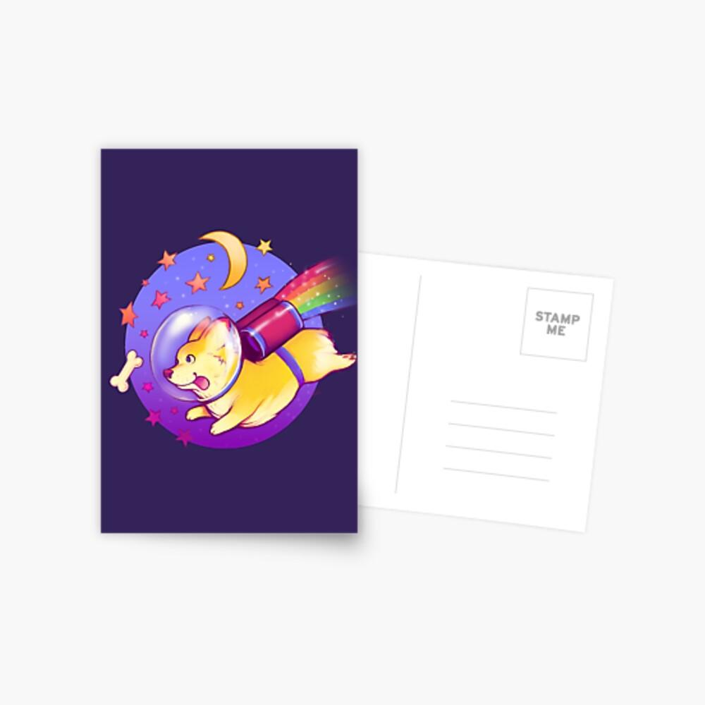 See You Space Corgi Postcard