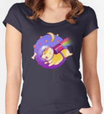 See You Space Corgi Women's Fitted Scoop T-Shirt