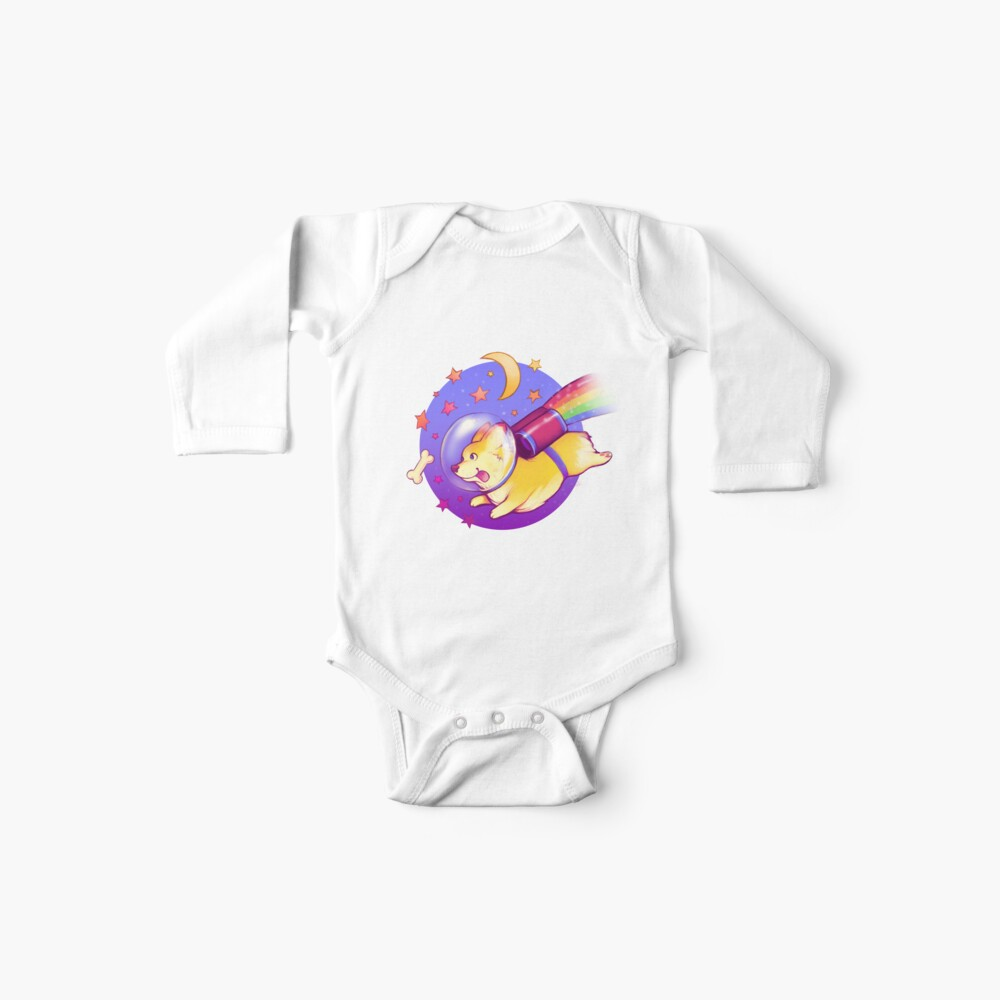 See You Space Corgi Baby One-Piece