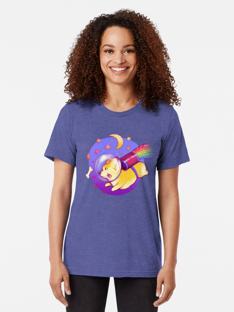 Alternate view of See You Space Corgi Tri-blend T-Shirt