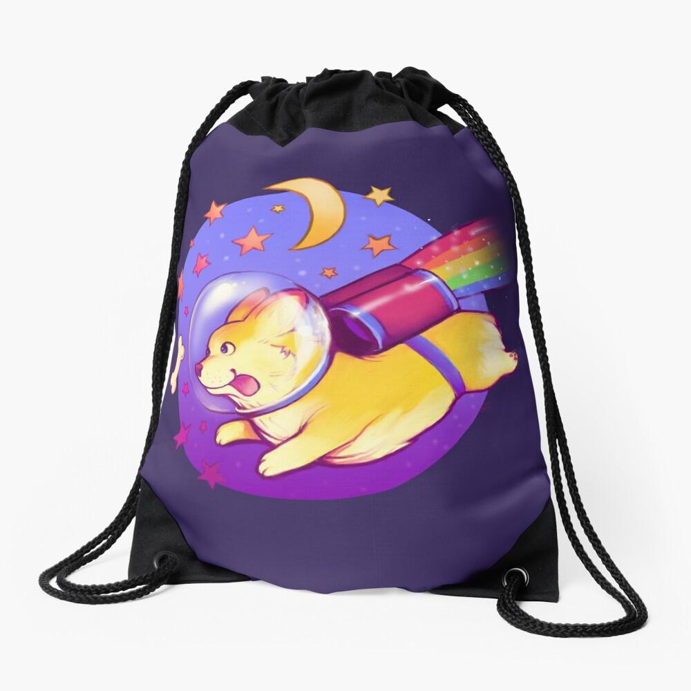 See You Space Corgi Drawstring Bag