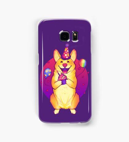 Birthday Corgi! Samsung Galaxy Case/Skin