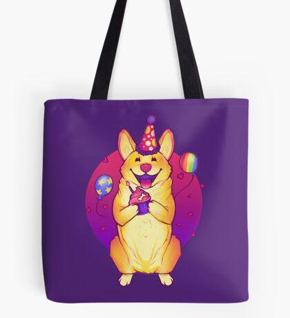 Birthday Corgi! Tote Bag
