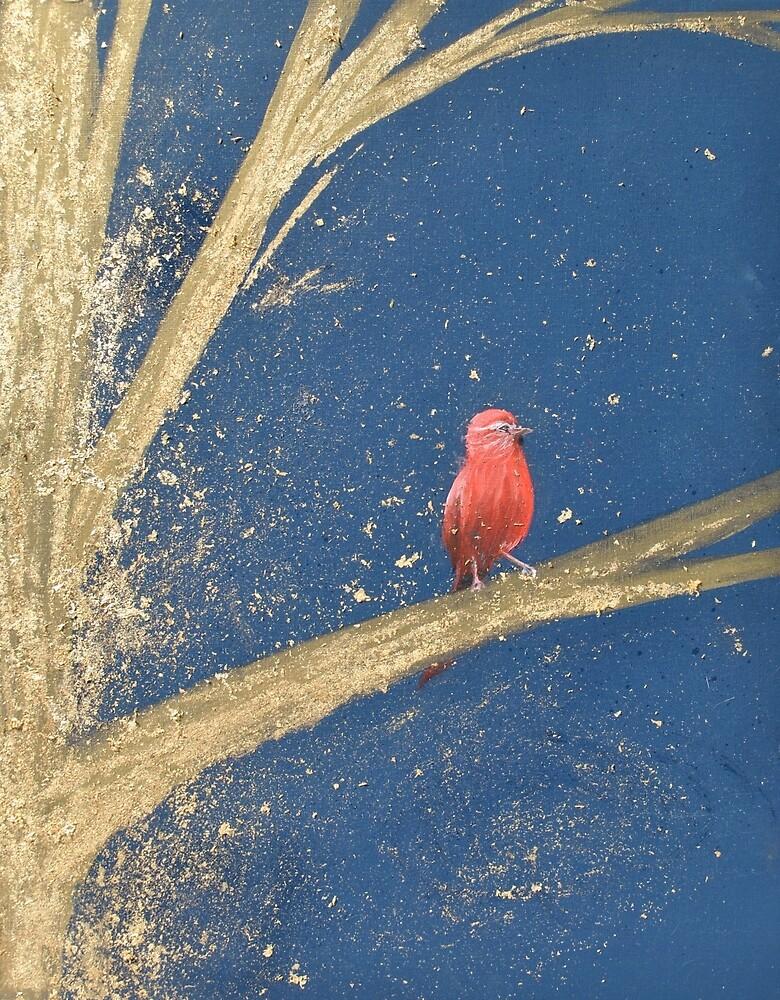 Red bird by Lauren  Watford