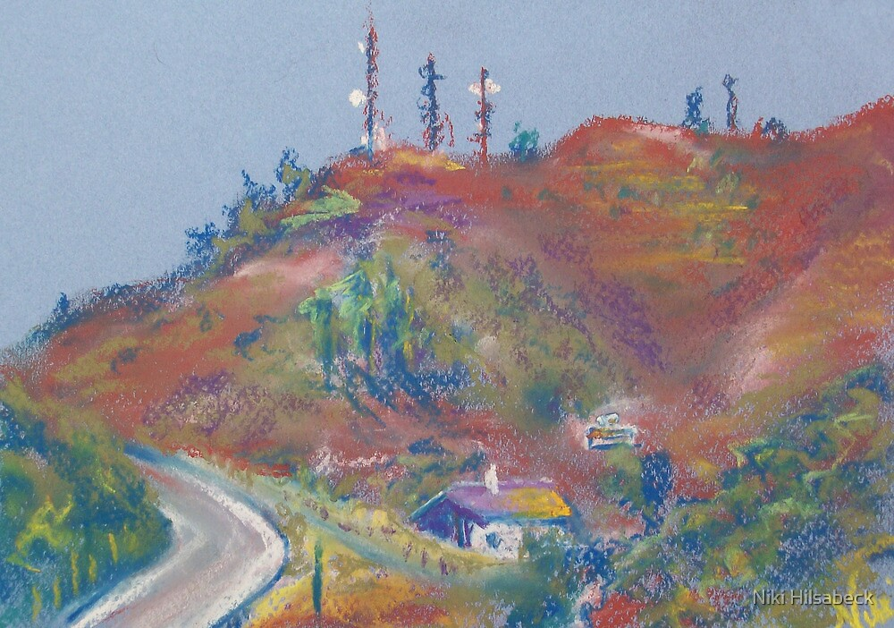 The Road to Fallbrook (pastel) by Niki Hilsabeck