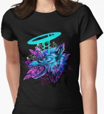 Crystal Wolf  Women's Fitted T-Shirt