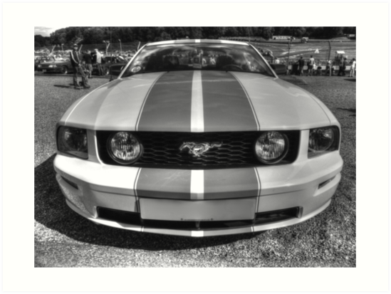 B&W Mustang HDR by Vicki Spindler (VHS Photography)