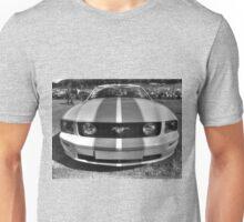 B&W Mustang HDR Unisex T-Shirt
