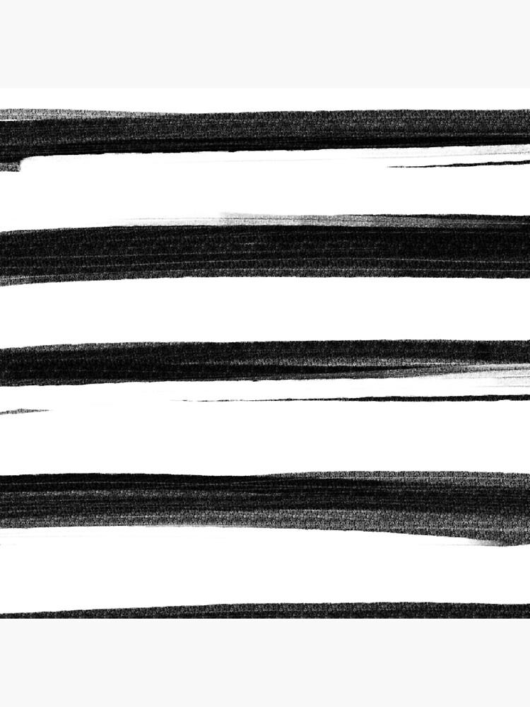 Black and White Brash Stroke Stripes  by SohiniTal