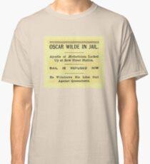 Oscar Wilde In Jail Headline Classic T-Shirt