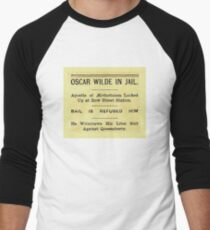 Oscar Wilde In Jail Headline Baseball ¾ Sleeve T-Shirt