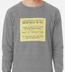 Oscar Wilde In Jail Headline Lightweight Sweatshirt