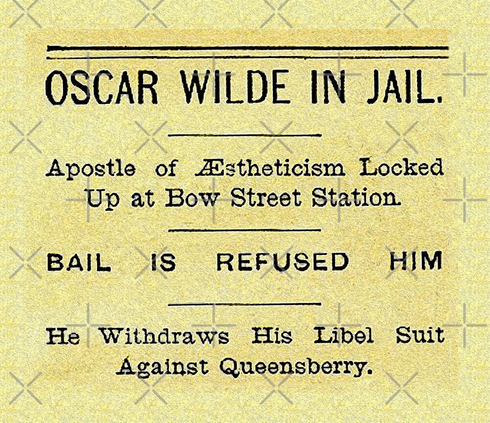 Oscar Wilde In Jail Headline by technoqueer