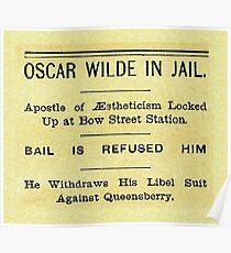 Oscar Wilde In Jail Headline Poster