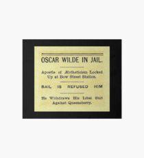 Oscar Wilde In Jail Headline Art Board Print