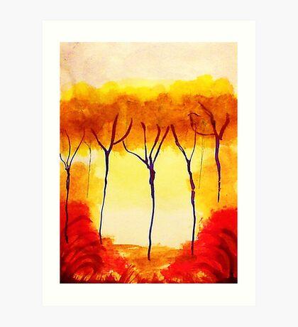 Is it Fall,,yet? watercolor Art Print