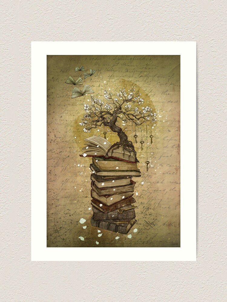 Alternate view of Knowledge is the key Art Print