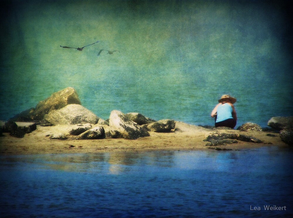 Beachcombing at Teach's Hole by Lea  Weikert