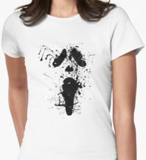 Ghostface Splatter  Womens Fitted T-Shirt