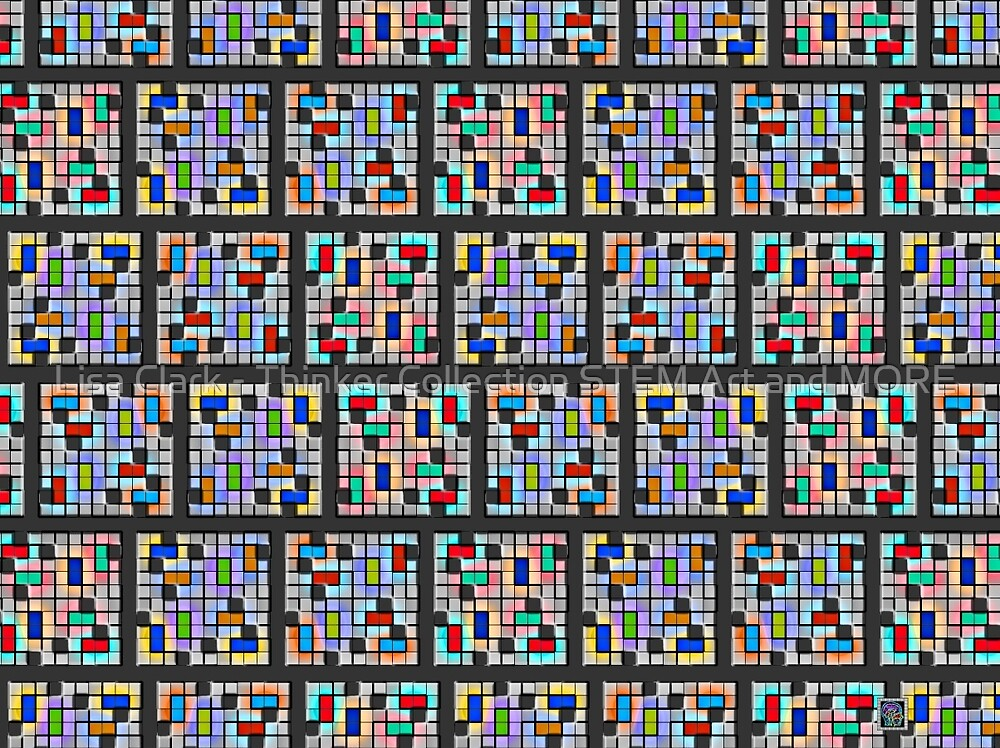 """""""Component Strip Polyform Sudoku""""© by Lisa Clark - Thinker Collection STEM Art and MORE"""