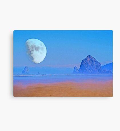 Cannon Beach Moon Canvas Print