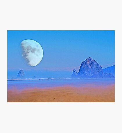 Cannon Beach Moon Photographic Print
