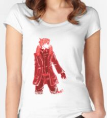 John Watson - Red - No Text Women's Fitted Scoop T-Shirt