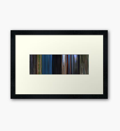 Moviebarcode: Dreams (1990) Framed Print