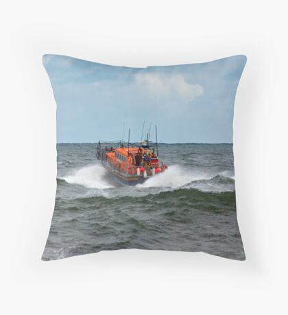 "RNLI Lifeboat - ""Grace Darling"" Throw Pillow"