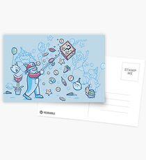 Mario Party Postcards