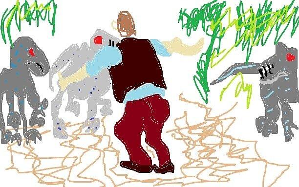 Bad Drawing-Jurassic World by sqreetgirl