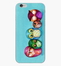 Fabric Owl Family iPhone Case