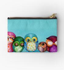 Fabric Owl Family Studio Pouch