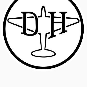 North American Aviation Logo Black T Shirt By Warbirdwear