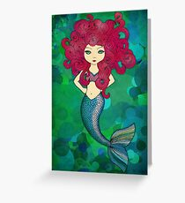 Some days I wear my hair, other days my hair wears me. Greeting Card