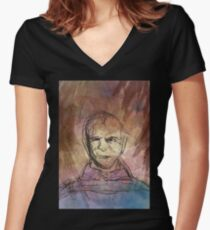Abstract Stannis Baratheon  Women's Fitted V-Neck T-Shirt