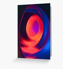 Shapes and Curves - Inside Levity III Greeting Card