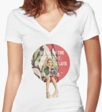 Kirstie Can't Sleep Love Women's Fitted V-Neck T-Shirt