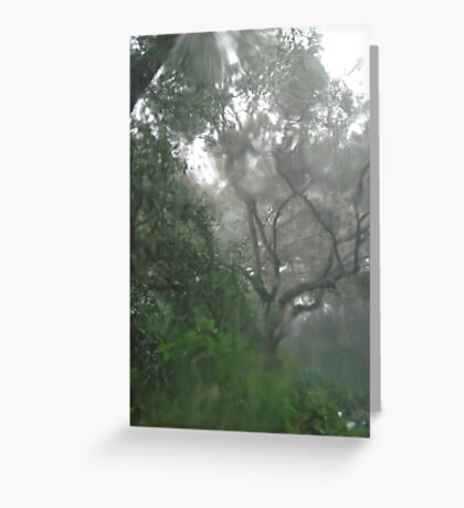 THROUGH TEARS OR RAIN, IT'S ALL THE SAME Greeting Card