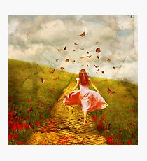 Her Yellow Brick Road Photographic Print