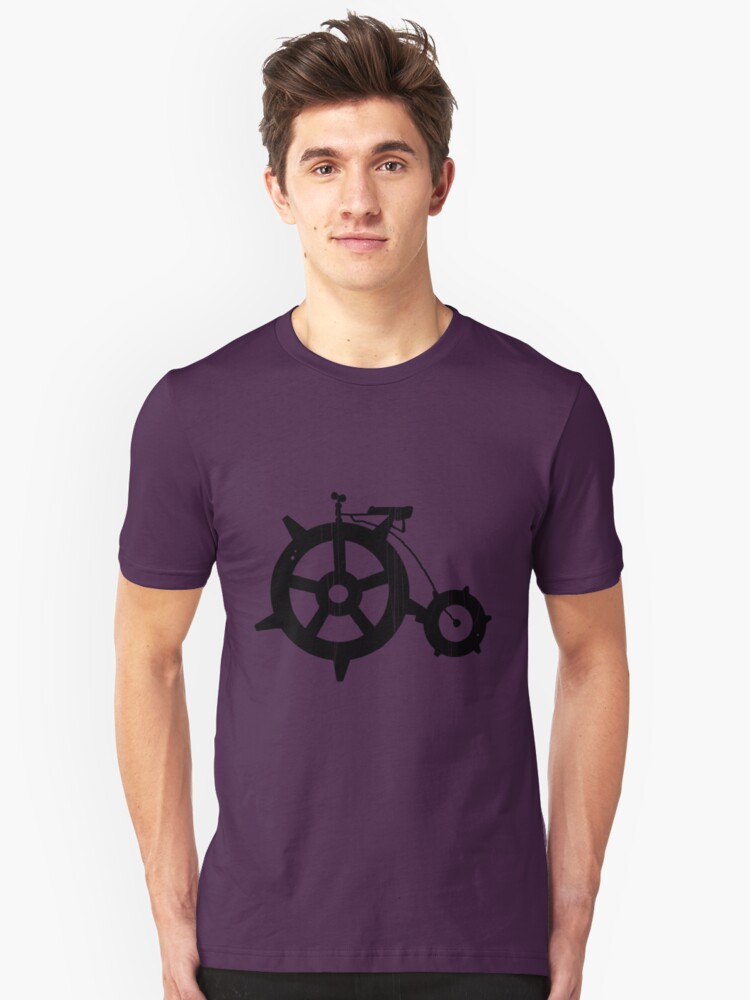 penny farthing gears Unisex T-Shirt Front