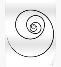 Reverse Golden Ratio Spiral Poster