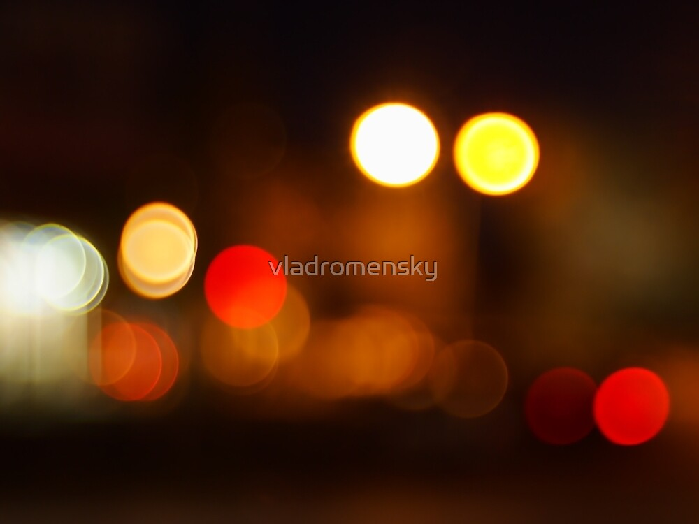 Abstract blurred image of round spots by vladromensky