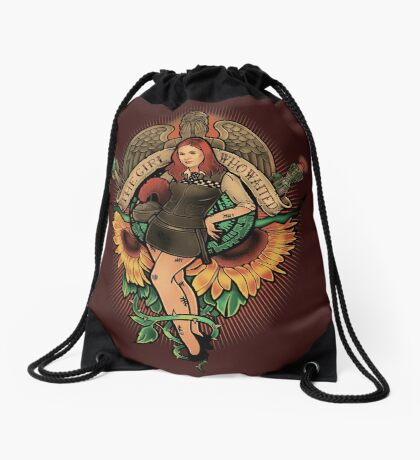 The Girl Who Waited Drawstring Bag
