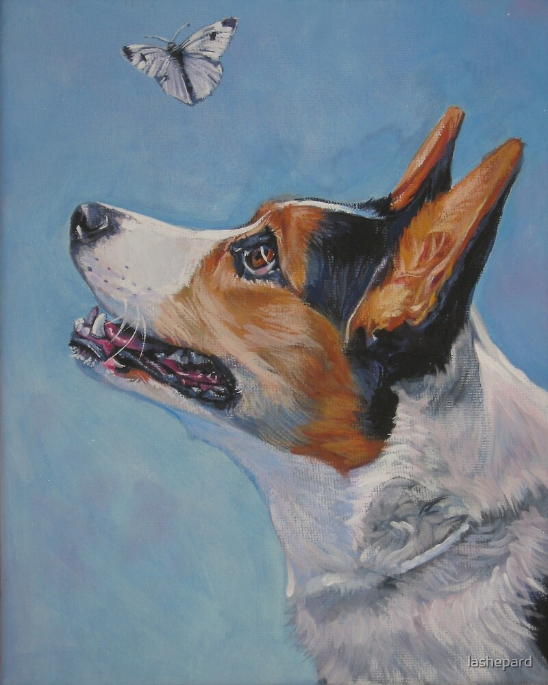 Cardigan Welsh Corgi Fine Art Painting by lashepard