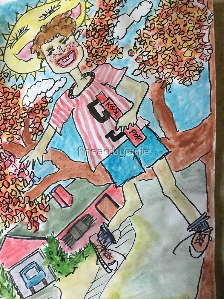Kool Pop Kid by fineartbyjanie