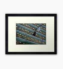Cubicle City Framed Print